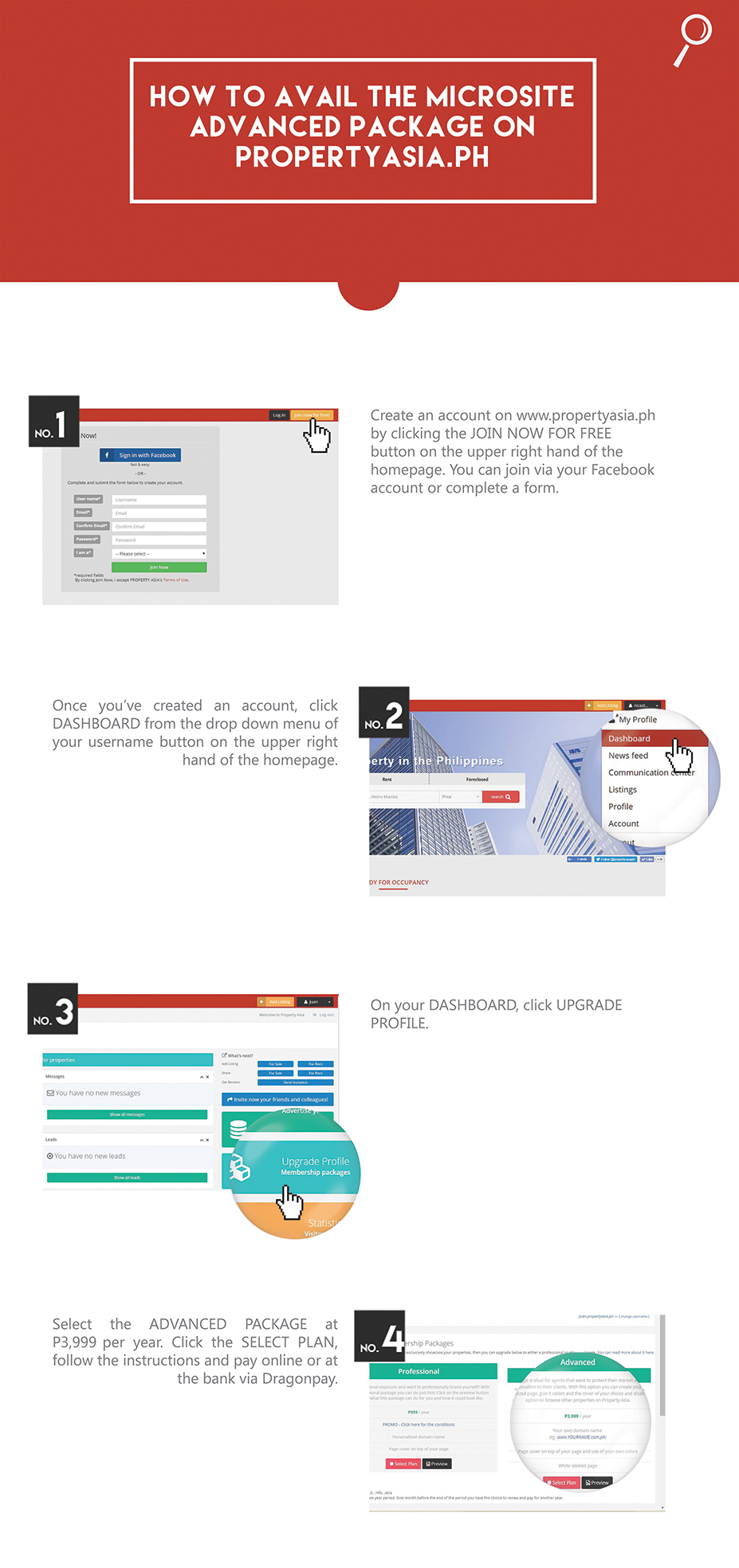 how to avail microsite package