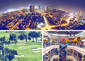 Skycrappers of Mandaluyong, Wack Wack Golf & Country Club, Mall Mandaluyong City Philippines