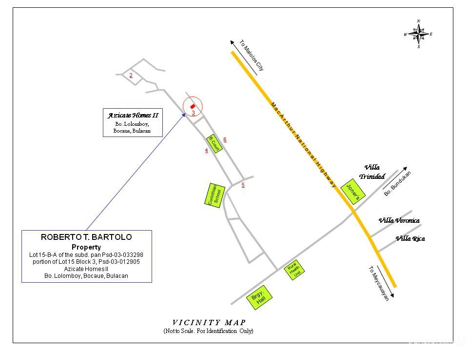 Sqm House And Lot Sale In Bocaue Philippines For - Bocaue map
