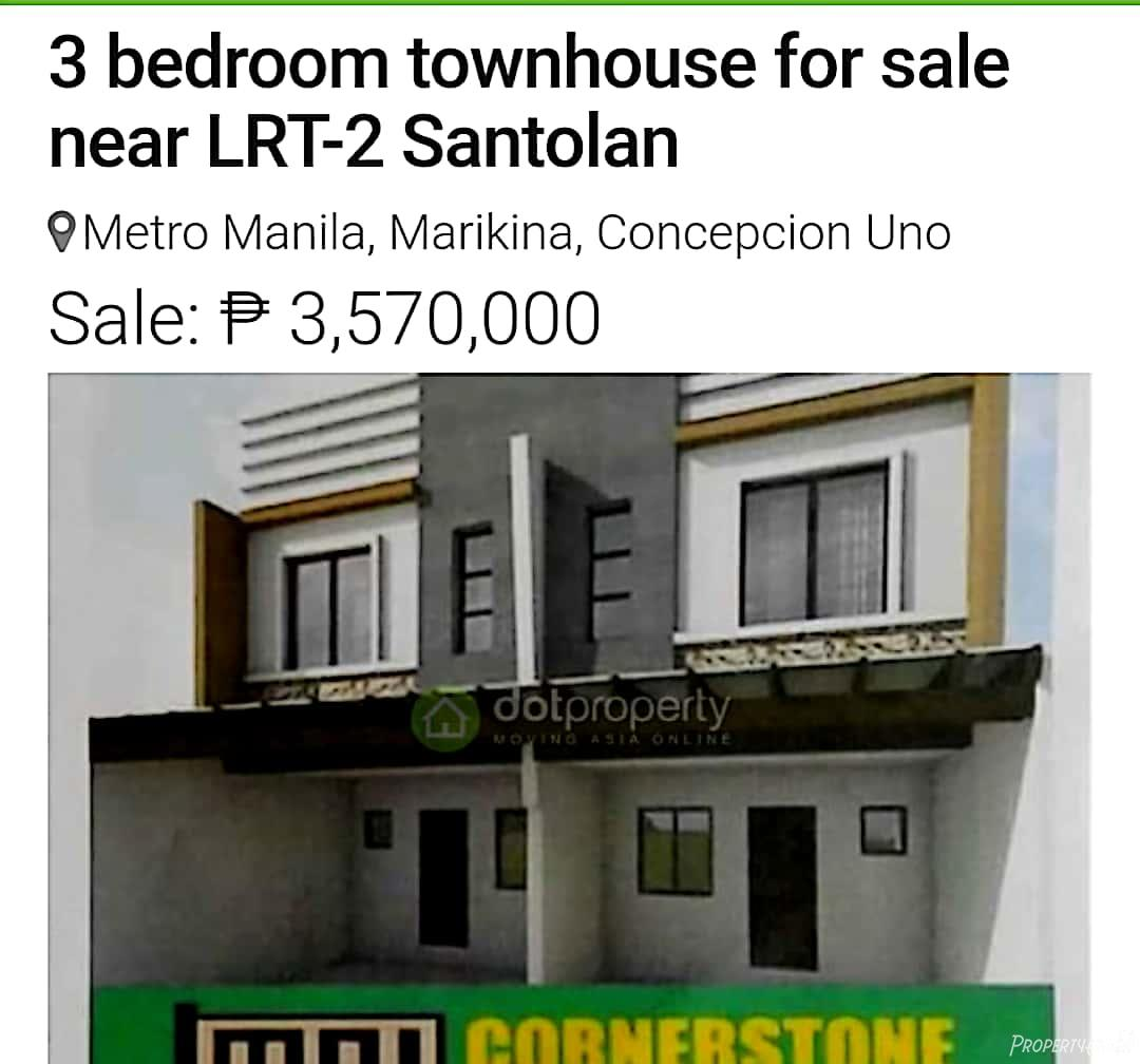 3 Bedroom Townhouse For Sale In Concepcion, Marikina City