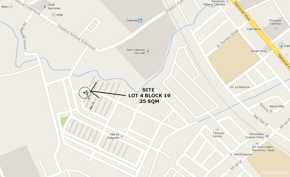 Sqm House And Lot Sale In Calamba City Philippines For - Calamba city map