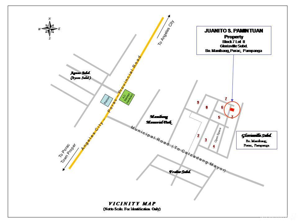 Sqm Residential Landlot Sale In Porac Philippines For - Porac map