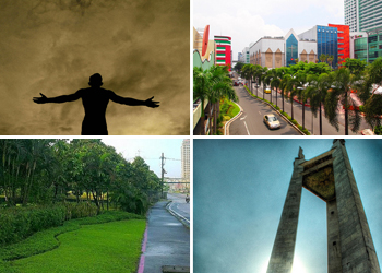 UP Diliman Oblation Statue, Smart Araneta Coliseum, Quezon City Memorial Circle